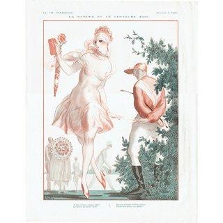 フランスの雑誌裏表紙 〜LA VIE PARISIENNE〜より(Armand Vallée)0162