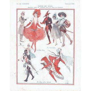 フランスの雑誌裏表紙 〜LA VIE PARISIENNE〜より(Louis Vallet)0173