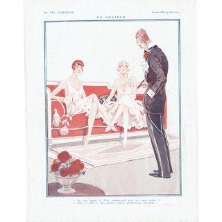 フランスの雑誌裏表紙 〜LA VIE PARISIENNE〜より(Henry Fournier)0174