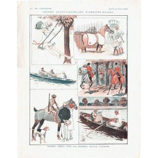 フランスの雑誌挿絵 〜LA VIE PARISIENNE〜より(Louis Vallet)0179