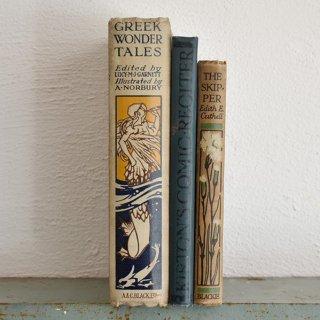 イギリス アンティークブック 古い洋書 3冊セット ディスプレイ035