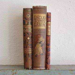 イギリス アンティークブック 古い洋書 3冊セット ディスプレイ037