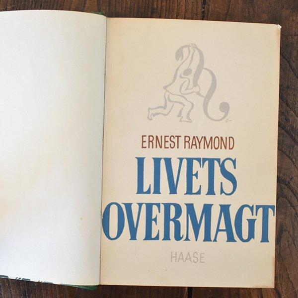デンマーク 北欧 アンティークブック 古い洋書 ディスプレイ039