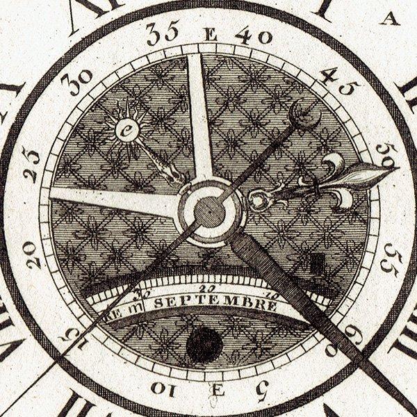時計製造図版(工業系) アンティークプリント  0034