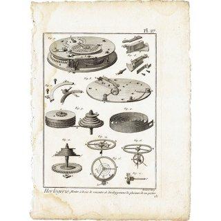 時計製造図版(工業系) アンティークプリント  0036