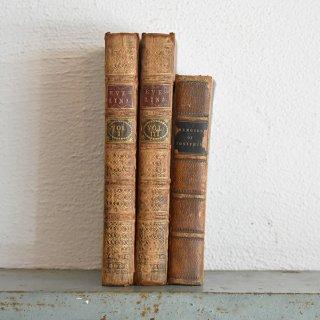 イギリス アンティークブック 古い洋書 3冊セット ディスプレイ047