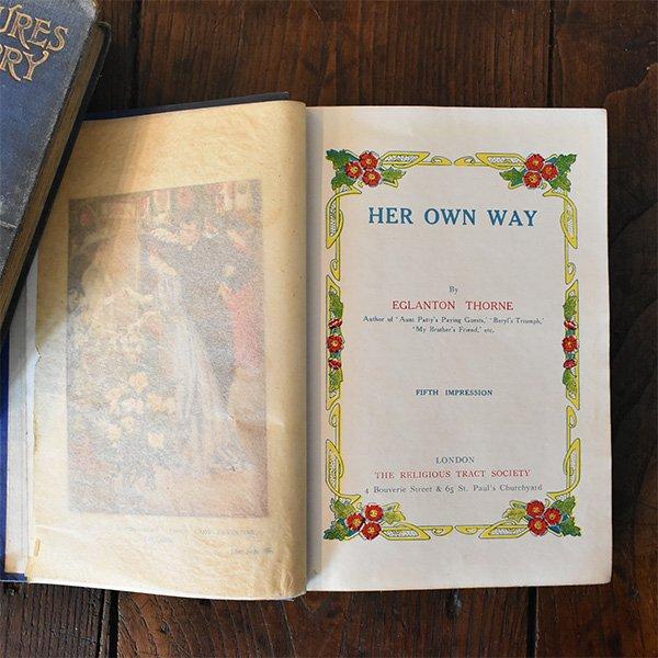 イギリス アンティークブック 古い洋書 3冊セット ディスプレイ049