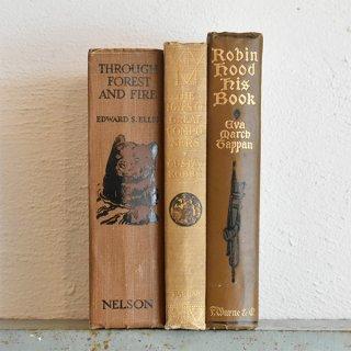イギリス アンティークブック 古い洋書 3冊セット ディスプレイ051