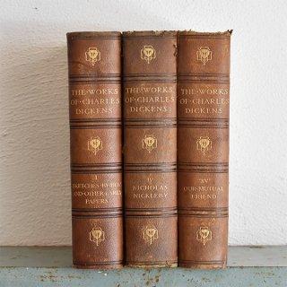 イギリス アンティークブック 古い洋書 3冊セット ディスプレイ054
