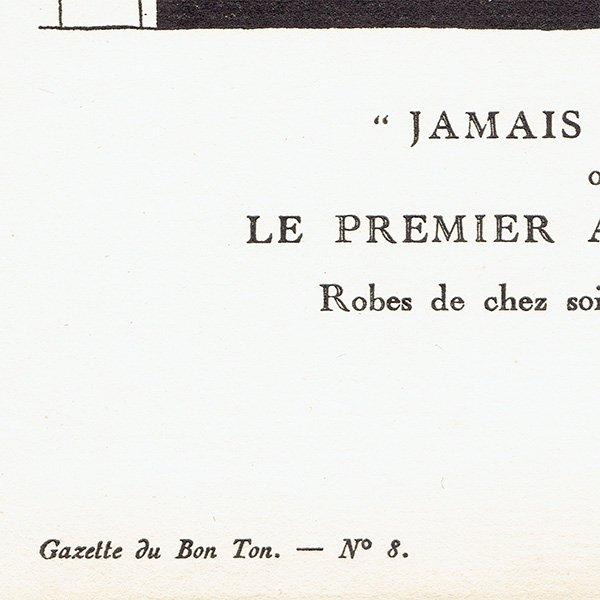 ガゼット・デュ・ボントン La Gazette du bon ton 1920  n°8 pl.58 #005
