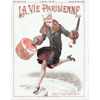 フランスの雑誌表紙 〜LA VIE PARISIENNE〜より(シェリ・エルアール/Chéri Hérouard)0216<img class='new_mark_img2' src='https://img.shop-pro.jp/img/new/icons5.gif' style='border:none;display:inline;margin:0px;padding:0px;width:auto;' />