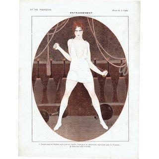 フランスの雑誌裏表紙 〜LA VIE PARISIENNE〜より(Armand Vallée)0229