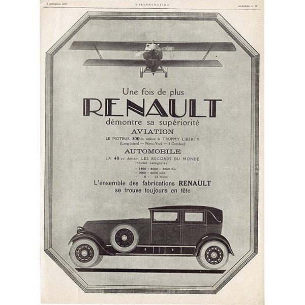 RENAULT(ルノー)/AUDINEAU 1925年クラシックカーのヴィンテージ広告 0035