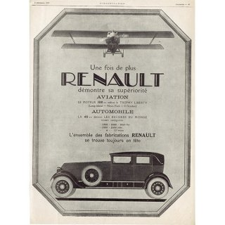 RENAULT(ルノー)/AUDINEAU 1925年クラシックカーのヴィンテージ広告 0035<img class='new_mark_img2' src='https://img.shop-pro.jp/img/new/icons5.gif' style='border:none;display:inline;margin:0px;padding:0px;width:auto;' />
