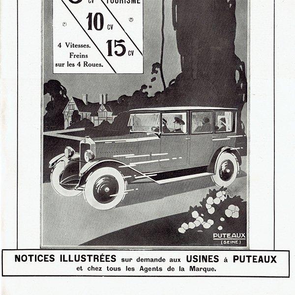 DeDion-Bouton(ドディオン・ブートン) 1926年クラシックカーのヴィンテージ広告 0036