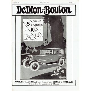 DeDion-Bouton(ドディオン・ブートン) 1926年クラシックカーのヴィンテージ広告 0036<img class='new_mark_img2' src='https://img.shop-pro.jp/img/new/icons5.gif' style='border:none;display:inline;margin:0px;padding:0px;width:auto;' />