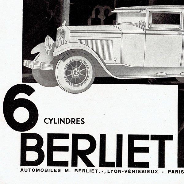 BERLIET(ベルリエ)1929年クラシックカーのヴィンテージ広告 0041