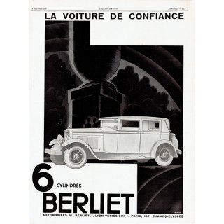 BERLIET(ベルリエ)1929年クラシックカーのヴィンテージ広告 0041<img class='new_mark_img2' src='https://img.shop-pro.jp/img/new/icons5.gif' style='border:none;display:inline;margin:0px;padding:0px;width:auto;' />