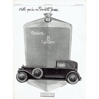 BALLOT (バロー)1928年クラシックカーのヴィンテージ広告 0042<img class='new_mark_img2' src='https://img.shop-pro.jp/img/new/icons5.gif' style='border:none;display:inline;margin:0px;padding:0px;width:auto;' />
