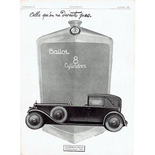 BALLOT (バロー)1928年クラシックカーのヴィンテージ広告 0042