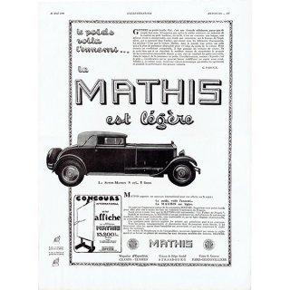 MATHIS(マティス)1930年クラシックカーのヴィンテージ広告 0043