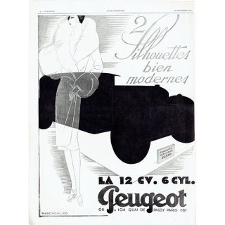 PEUGEOT(プジョー)1928年クラシックカーのヴィンテージ広告 0044<img class='new_mark_img2' src='https://img.shop-pro.jp/img/new/icons5.gif' style='border:none;display:inline;margin:0px;padding:0px;width:auto;' />