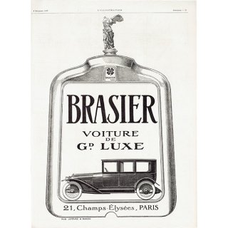 BRASIER(ブラジエール)1920年クラシックカーのヴィンテージ広告 0047<img class='new_mark_img2' src='https://img.shop-pro.jp/img/new/icons5.gif' style='border:none;display:inline;margin:0px;padding:0px;width:auto;' />