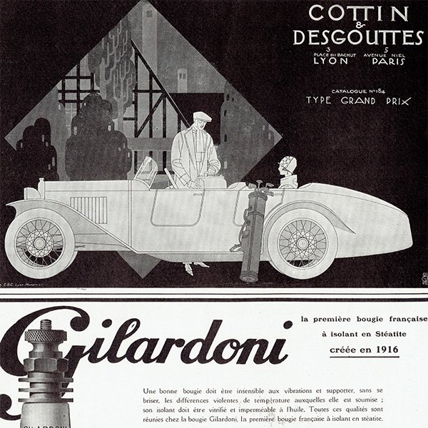 Cottin & Desgouttes 1925年クラシックカーのヴィンテージ広告 0050<img class='new_mark_img2' src='https://img.shop-pro.jp/img/new/icons5.gif' style='border:none;display:inline;margin:0px;padding:0px;width:auto;' />