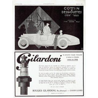 Cottin & Desgouttes 1925年クラシックカーのヴィンテージ広告 0050