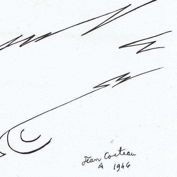 GEOREGS IRAT(イラスト:ジャン コクトー) 1946年のヴィンテージ広告 0051<img class='new_mark_img2' src='https://img.shop-pro.jp/img/new/icons5.gif' style='border:none;display:inline;margin:0px;padding:0px;width:auto;' />