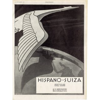 HISPANO-SUIZA(イスパノ・スイザ) 1927年のヴィンテージ広告 0052<img class='new_mark_img2' src='https://img.shop-pro.jp/img/new/icons5.gif' style='border:none;display:inline;margin:0px;padding:0px;width:auto;' />