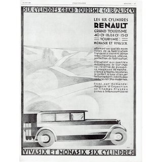 RENAULT(ルノー) 1928年クラシックカーのヴィンテージ広告 0054<img class='new_mark_img2' src='https://img.shop-pro.jp/img/new/icons5.gif' style='border:none;display:inline;margin:0px;padding:0px;width:auto;' />