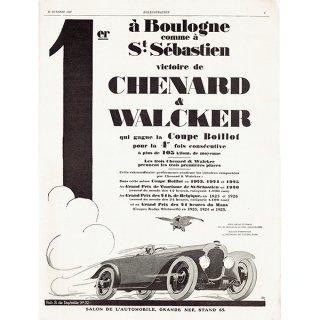 Chenard & Walcker(シュナール・ワルケル) 1926年クラシックカーのヴィンテージ広告 0055<img class='new_mark_img2' src='https://img.shop-pro.jp/img/new/icons5.gif' style='border:none;display:inline;margin:0px;padding:0px;width:auto;' />