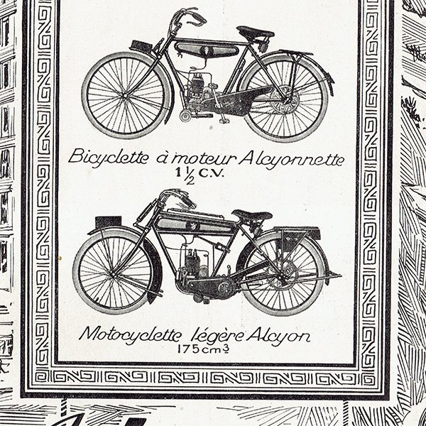 Alcyon(アルシオン)1924年 自転車・バイクのヴィンテージ広告 0058<img class='new_mark_img2' src='https://img.shop-pro.jp/img/new/icons5.gif' style='border:none;display:inline;margin:0px;padding:0px;width:auto;' />