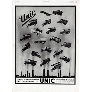 Unic(ユニック)1929年 フレンチヴィンテージ広告  0060<img class='new_mark_img2' src='https://img.shop-pro.jp/img/new/icons5.gif' style='border:none;display:inline;margin:0px;padding:0px;width:auto;' />