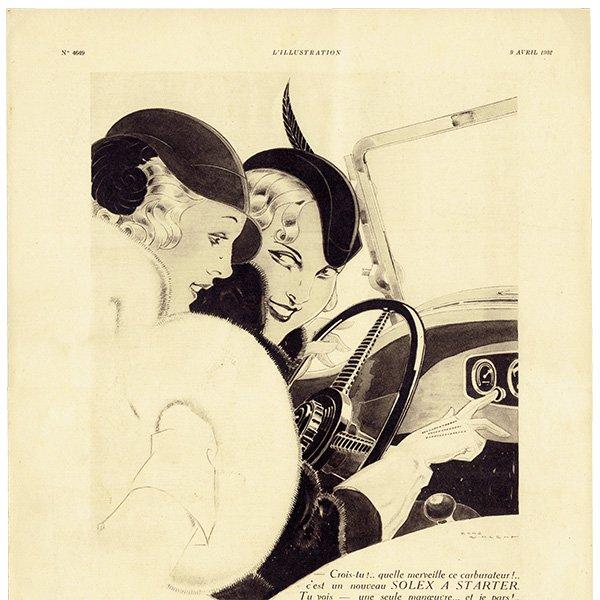 SOLEX(ソレックス)1932年 フレンチヴィンテージ広告  0070
