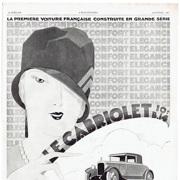 Citroën(シトロエン)1928年 フレンチヴィンテージ広告  0073