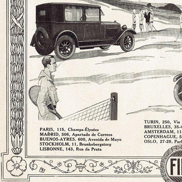 Fiat509(フィアット509)1926年 フレンチヴィンテージ広告  0080