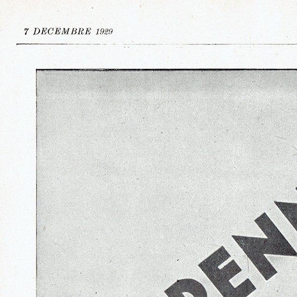 パリの老舗百貨店 Au Bon Marché (ボン・マルシェ)のヴィンテージ広告 1929年 0198