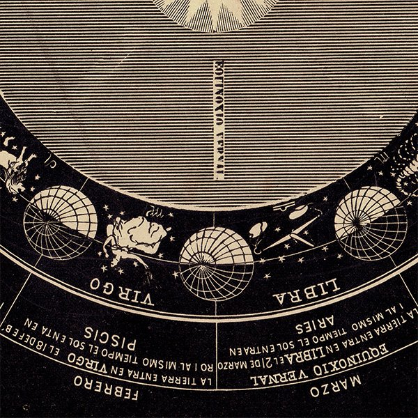 【天文学】12星座アンティークプリント(スペイン語) 0050