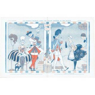 ジョルジュ・バルビエ(George Barbier)フランスの雑誌挿絵 〜LA VIE PARISIENNE〜より 0343