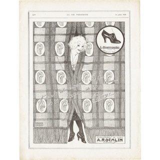 Rip A.Rochlin 靴のヴィンテージ広告 1920年 0199