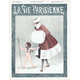 フランスの雑誌雑誌 〜LA VIE PARISIENNE〜より(ジョルジュ・レオネック/Georges Léonnec)0387<img class='new_mark_img2' src='https://img.shop-pro.jp/img/new/icons5.gif' style='border:none;display:inline;margin:0px;padding:0px;width:auto;' />
