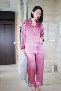 ロングベーシックパジャマ/ピンク