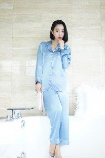 ロングベーシックパジャマ/ブルー