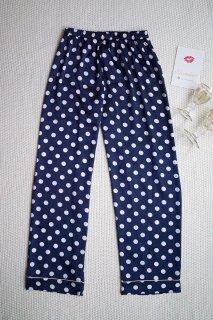 メンズドットロングパジャマパンツ