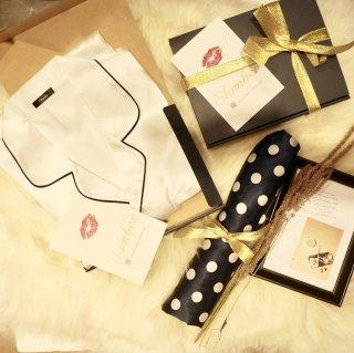 【valentine's fair】メンズロングベーシックパジャマ/ホワイト