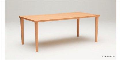 カリモク60+ ダイニングテーブル1800(ピュアビーチ色)