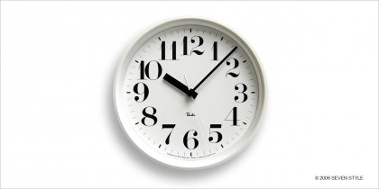 Lemnos RIKI STEEL CLOCK (White) WR08-25WH