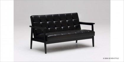 カリモク60 Kチェア2シーター(ブラックブラック)